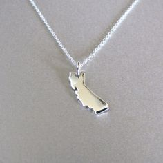 California State Charm Necklace  State by tangerinejewelryshop, $36.00