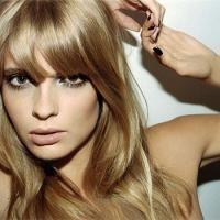 Perfect fringe, perfect shine & perfect dark blonde. Sigh.
