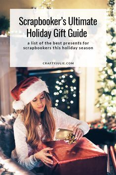 Scrapbooking Holiday Gift Guide with ideas to give this year to your favorite scrapbooker! Easy Diy Gifts, Cheap Gifts, Holiday Gift Guide, Holiday Gifts, Friend Scrapbook, Christmas Craft Projects, Diy Presents, Christmas Scrapbook, Scrapbooking Layouts