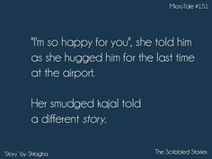 Her smudged kajal told a different Story. #Pretty #Short #Stories