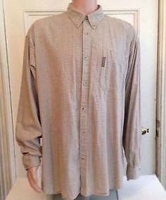 Columbia Shirt Mens Size XXL 2XL Long Sleeve Beige Cotton | eBay