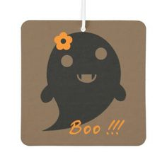 Cute Halloween Ghost Air Freshener - holidays diy custom design cyo holiday family