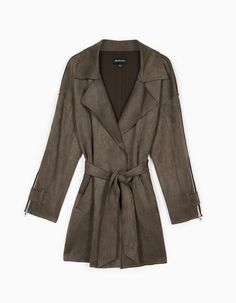 Bonded short trench - Coats | Stradivarius Ukraine