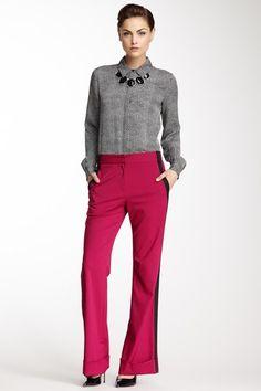 Can't get enough tuxedo stripe. On pink is so fun!  Emma Contrast Stripe Pant by Kelly Wearstler on @HauteLook