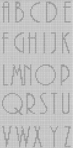 Brain Clutter: Cross stitch alphabet #3