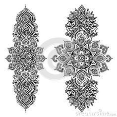Uppsättning av dekorativa indiska symboler elefantperson som tillhör en etnisk minoritet