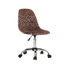 Ebern Designs Sardina Cheetah Task Chair | Wayfair Adjustable Office Chair, Swivel Office Chair, Desk And Chair Set, Desk Chair, Elephant Size, Office Furniture Design, Chair Height, Thing 1, Furniture Upholstery