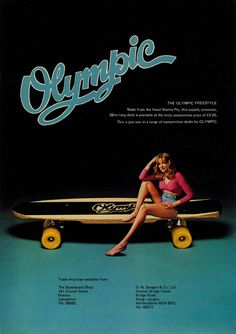 Olympic skateboard advertisment from the 1970's