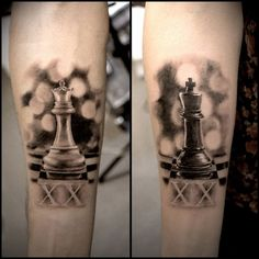 42c15dc8b7ba4 matching tattoos for couples (26) Chess Piece Tattoo, Pieces Tattoo, King  Queen