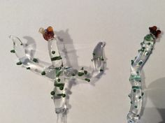 Flowering cacti, Borosilicate glass, Terrafuse, by Effi!