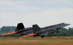 SR 71 take off. The rings are created as supersonic air from the engine meets subsonic air, creating a shockwave.