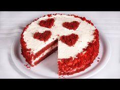 Vörös bársony torta (Szécsi Szilvi) - YouTube Velvet Cake, Red Velvet, Unsweetened Cocoa, Baking Soda, Icing, Caramel, Vanilla, Sweets, Snacks