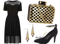 Festive Party Outfits #3: Black & Gold
