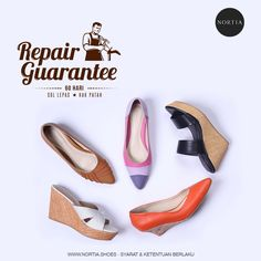 Broke your shoes? Don't worry Ladies, we'll fix it for you! Check out www.nortia.shoes for more info. #nortia #sepatu #fashion #wanita #highquality #leather #comfort #madeinindonesia #jakarta