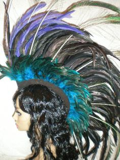 Feather Mohawk Twilight Poison by egoward on Etsy, $119.00