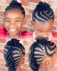 Black Kids Hairstyles, Cute Little Girl Hairstyles, Little Girl Braids, Baby Girl Hairstyles, Natural Hairstyles For Kids, Kids Braided Hairstyles, African Braids Hairstyles, Braids For Kids, Girls Braids