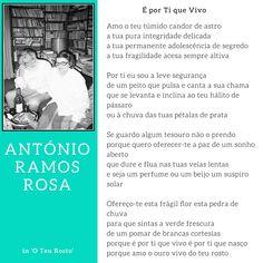 António Ramos Rosa - É por ti que vivo