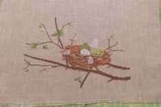 Vogelnest Chr. Dahlbeck Fremme acufactum Ostern Frühling Kreuzstich Stickbild   Bastel- & Künstlerbedarf, Handarbeit, Sticken & Kreuzsticken   eBay!