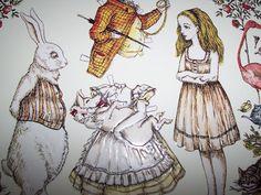 Uniquely ella: Alice in wonderland paper dolls.