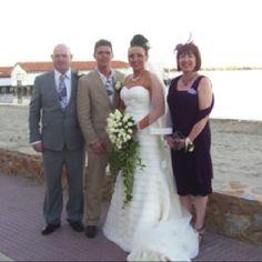 Bride, groom and brides parents