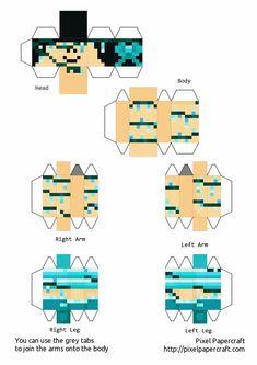 Minecraft Templates, Minecraft Crafts, Papercraft Minecraft Skin, Iphone Wallpaper Themes, Mc Skins, Paper Crafts, Printables, Ih, Dream Team