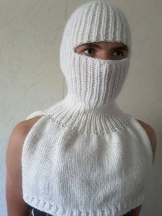 New unique handmade in Ukraine winter balaclava white soft balaclava kid mohair and acrylic hat face mask  balaclava by RomansScarletSail on Etsy