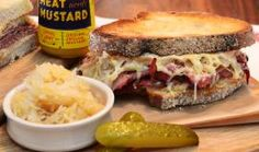 The Mighty Spiced Beef Reuben Reuben Recipe, Hangover Food, Spiced Beef, Really Good Stuff, Good Food, Fun Food, Cravings, Mustard, Sandwiches