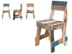 Piet van Eek chair, repurposed boards
