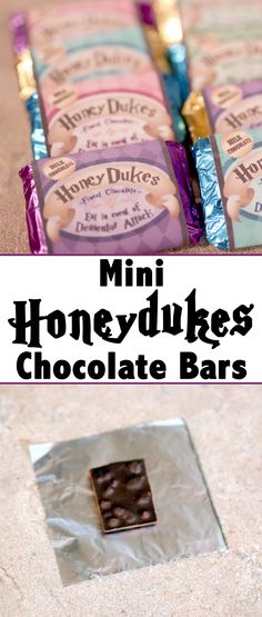 Make or buy chocolate bars and decorate them to look just like Harry Potter Honeydukes bars!