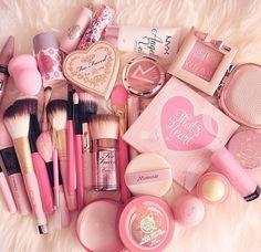 pink, makeup, and make up resmi