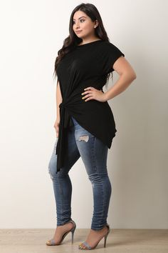76502c0e622e This plus size top features a textured fabrication