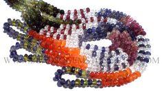 Multi Faceted Roundel (Quality A) (Green & Pink Tourmaline Crystal Garnet Iolite Carnelian Peridot) / 4.5 to 5 mm / 38 cm / MI-009 by beadsogemstone on Etsy #pinktourmalinebeads #greentourmalinebeads #crystalbeads #garnetbeads #iolitebeads #carnelianbeads #peridotbeads #rondellebeads #gemstonebeads #semipreciousstones #semipreciousbeads #briolettes #jewelrymaking #craftsupplies #beadsofgemstone #stones #beads