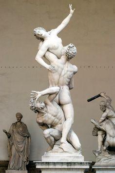 Giambologna. The Capture of a Sabine Woman. 1581-1582. Marble. Loggia dei Lanzi, Florence.