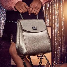 441931c9749a New with Tag Current Style COACH 38584 PARKER CONVERTIBLE BACKPACK METALLIC  BAG