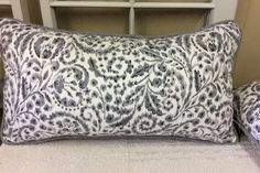 Gray and White Monochromatic Floral Pillow Cover by EmbellishmentsByFD on Etsy
