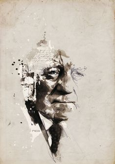 jean gabin illustration by florian nicolle Jean Gabin, Web Design, Graphic Design, Mixed Media Artists, Pictures To Draw, Art Plastique, Traditional Art, Collage Art, Illustrations Posters