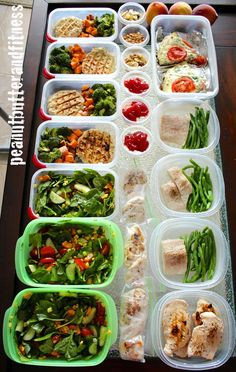 Meal Prep Mondays - meal prepping ideas for a one week prep. Includes turkey patties with broccoli and sweet potato, salads, breakfast frittata, chicken and veggies, mahi and green beans plus recipes for all of it and snacks. Makes it easy to stay on track and eat according to your goals.