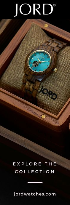 Jord& designer line of natural wood watches features elements common in lux. Cool Watches, Watches For Men, Men's Watches, Pokemon, Wooden Watch, Luxury Watches, Cool Gifts, Luxury Branding, Natural Wood