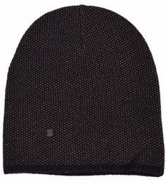 New Gucci 352350 Men's Black Beige Wool Cashmere Beanie Ski Winter Hat SMALL #Gucci #Beanie