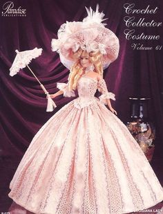 1795 Louisiana Lady Outfit for Barbie Paradise #61 Crochet PATTERN (NO DOLL)