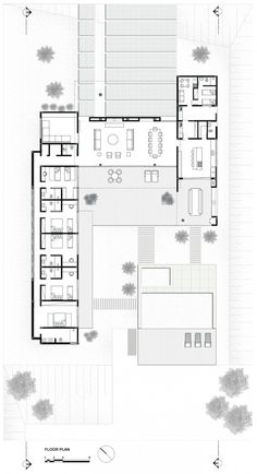 possible shape for Commons Road site L Shaped House Plans, New House Plans, Modern House Plans, Modern House Design, House Floor Plans, Bedroom Floor Plans, Casas Containers, Apartment Floor Plans, Home Design Plans