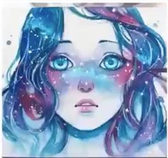 girl with the universe in her hair
