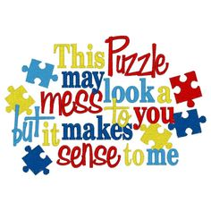 Autism Awareness Puzzle Pieces Embroidery T shirt