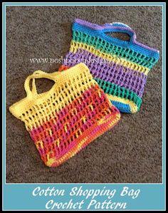 Posh Pooch Designs Dog Clothes: Cotton Shopping - Bag Crochet Pattern - FREE crochet pattern
