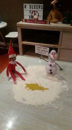 20 Funny Elf On The Shelf Ideas Lots of Funny Elf on The She. : 20 Funny Elf On The Shelf Ideas Lots of Funny Elf on The Shelf Ideas to give your kids a good giggle! These are all not only hilarious but pretty simple to do as well. Nightmare Before Christmas, Awesome Elf On The Shelf Ideas, Elf Is Back Ideas, Elf On The Shelf Ideas For Toddlers, Elf Auf Dem Regal, Bad Elf, Elf On The Self, Elf Magic, Naughty Elf