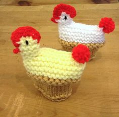 Image of Knitted Chicken Egg Cosy