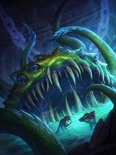 Card Name: Yogg-Saron, Hope's End Artist: Blizzard Entertainment