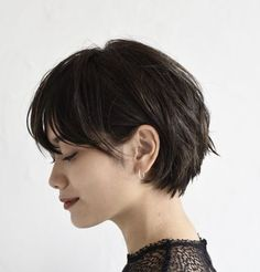 Ladies Choise short brown hair Here ladies gather, who love their own dark hair. We've put together wonderful brown short hairstyles for you. Brown hair is quite successful in hidin. Wedding Hairstyles Short Hair, Short Bob Hairstyles, Office Hairstyles, Anime Hairstyles, Stylish Hairstyles, Hairstyles Videos, Hairstyle Short, Hairstyles 2016, Hair Updo