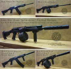 """Talk about an """"Intimidator"""".... With just a few select accessories, your Lone Star Arms """"L1"""" Tactical shotgun can be configured and reconfigured to fit your personal shooting style and needs."""