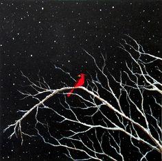 Cardinal in Snow by blablover5 on deviantART